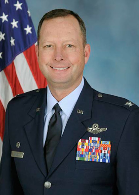 317th Operations Group commander official biography photo