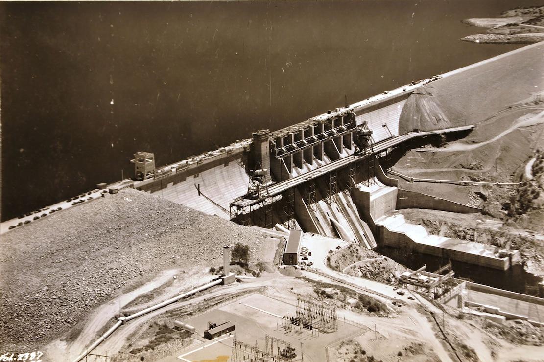 Folsom Dam Construction 1955