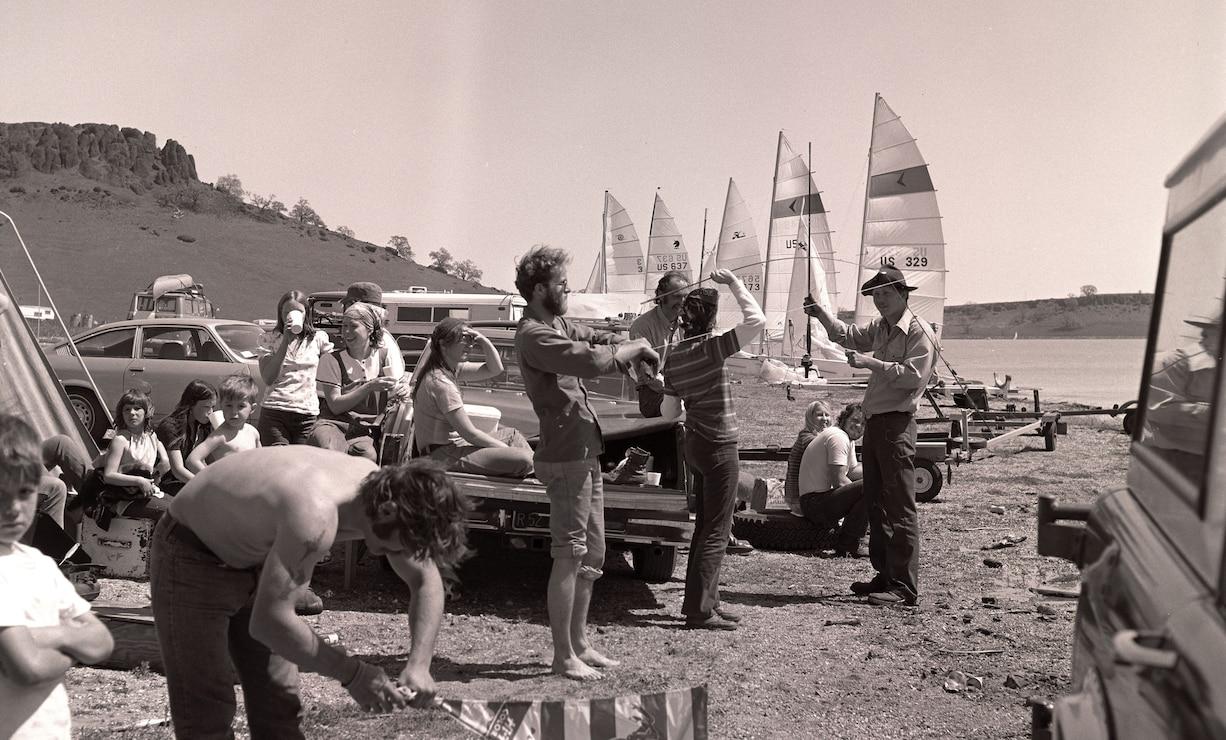 Black Butte Lake sailing 1975