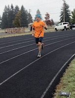 Bruce Robie, 225th Support Squadron, runs 81 miles during the Joint Base Lewis-McChord 24-Hour POW/MIA Remembrance Run Sept. 19-20, 2019. Robie placed first in individual standings. (Courtesy photo)