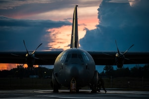 A C-130J Super Hercules during exercise Mobility Guardian 2019