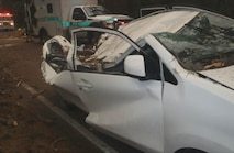 Toyota Prius involved in the accident