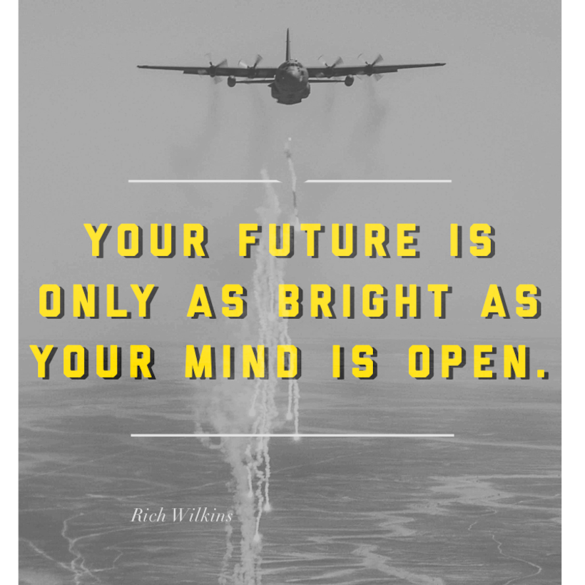 This week's motivation comes from Rich Wilkins, an author: 