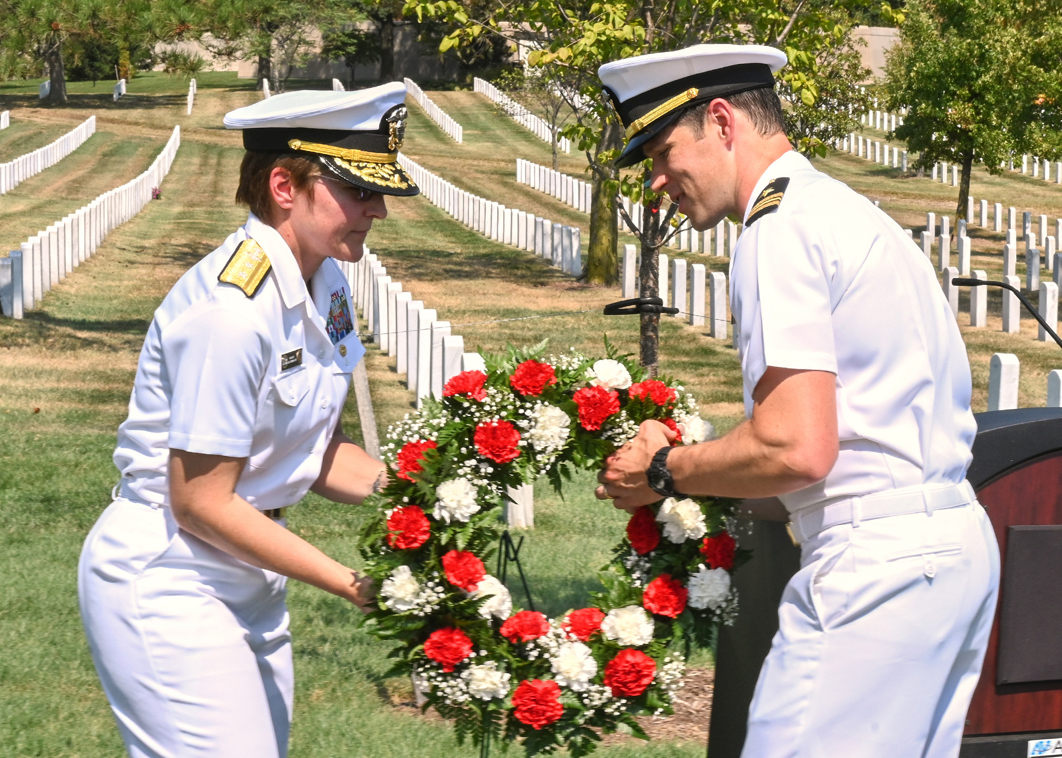 Naval Intelligence Honors Fallen Shipmates at Arlington