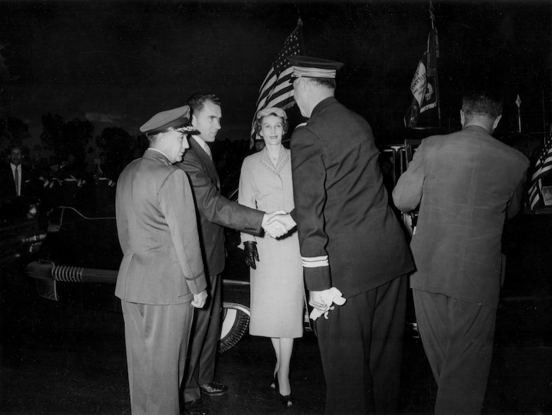 Construction of air bases in Morocco attracted political attention, including a visit in the mid-1950s from the Vice President and Mrs. Richard M. Nixon.
