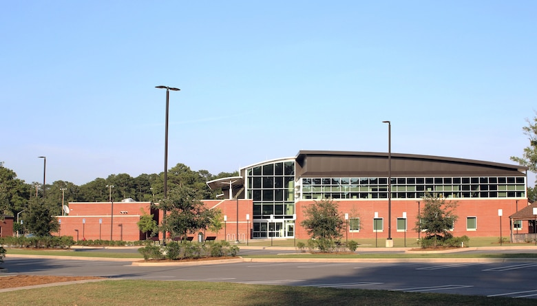 Exterior view of new $48 million Thomas Koritz Clinic at Seymour Johnson Air Force Base in Goldsboro, North Carolina. The clinic, which was completed by the Corps in June 2018, earned the 2019 USAF Design Award for facility design. Courtesy photo.