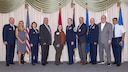 The 514th Air Mobility Wing welcomed our newest Honorary Commanders at a ceremony held at here, September 24, 2019.  The Honorary Commander program takes local community partners and pairs them with commanders across the installation for a one year term.  During this time this partnership helps foster a growing relationship with the Joint Base and the surrounding communities.  Please join us in welcoming the new 514th Air Mobility Wing Honorary Commanders!  Dr. Lynn McGrath (unable to attend) paired with Col. Thomas Pemberton  Mr. Robert Benkert paired with Col. Adrian Byers  Ms. Eileen Murphy paired with Chief Master Sgt. Dana Capaldi  Dr. Raymond Mascolo paired with Col. Cynthia Wong  Mrs. Monika Flaherty paired with Col. Matthew Bianchini  Mr. John Hill paired with Lt. Col. Mark Santilli