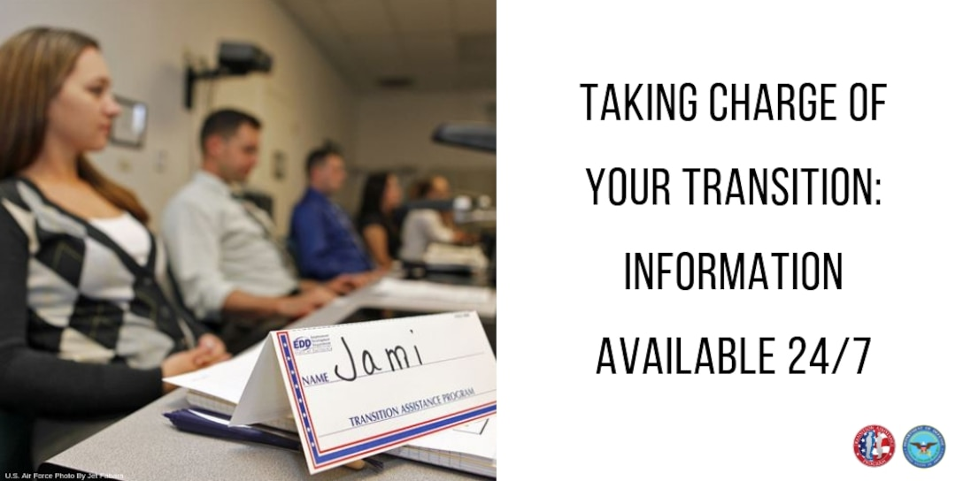 """Woman sits in a classroom setting, her place marked by a placard reading, """"Jami – Transition Assistance Program."""""""