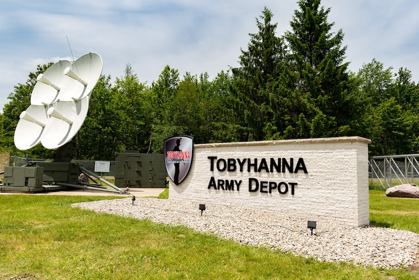 Photo of the outside entrance sign of Tobyhanna