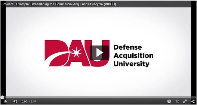 Streamlining the Commercial Acquisition Lifecycle (VIDEO)