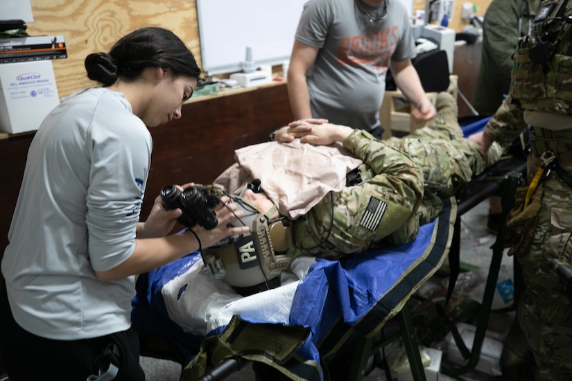 US service members, with Combined Joint Special Operations Task Force- Operation Inherent Resolve, practice casualty response procedures in northern Iraq, March 27th, 2020. CJSOTF-OIR maintains the highest levels of readiness to help ensure stability in the region.