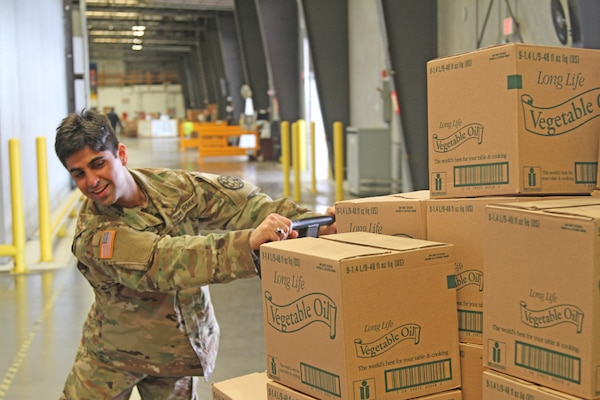 His military career is only weeks-old, but California Army National Guard Pfc. Muhammad Fayzan Izhar is embracing his work helping at a Sacramento food bank in response to the COVID-19 pandemic. The Pakistan native completed his initial entry training in February.