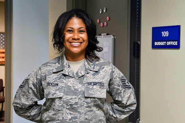 Tech. Sgt. Joni Jackson, a finance specialist assigned to the 110th Comptroller Flight