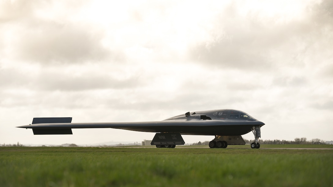 A B-2 Spirit prepares to take off