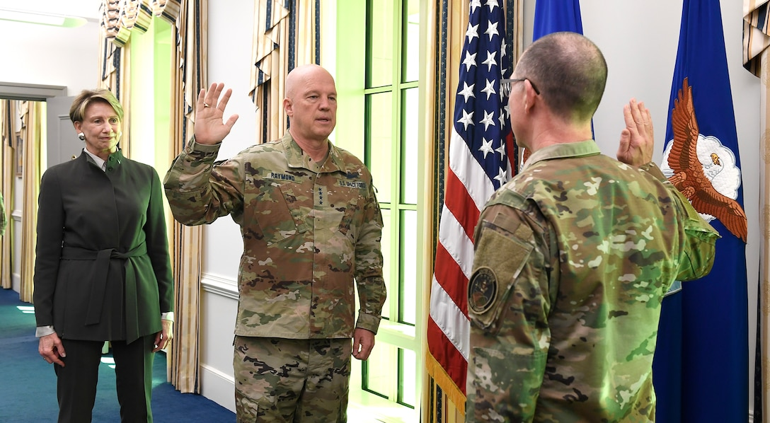 CMSgt Roger A. Towberman becomes the first Senior Enlisted Advisor of the U.S. Space Force.