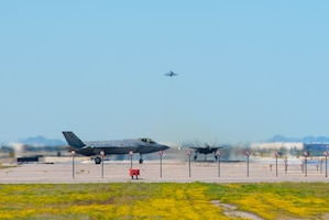 F-35A Lightning IIs display air superiority