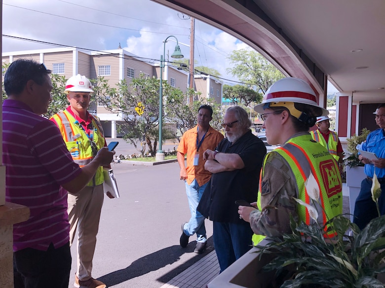 The U S. Army Corps of Engineers, Honolulu District team conducted five site assessments at various locations on the island of Hawaii for potential conversion to alternate care facilities in response to COVID-19. Honolulu District is assisting the state and FEMA's efforts with initial facility assessments at Hawaii locations.  (U.S. Army Corps of Engineers -Honolulu District photo by Meg Ryan)