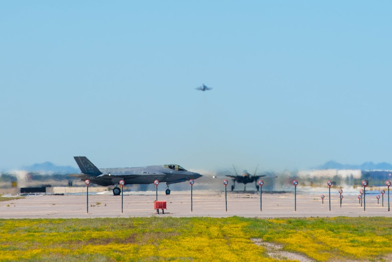 F-35A Lightning IIs display air superiority