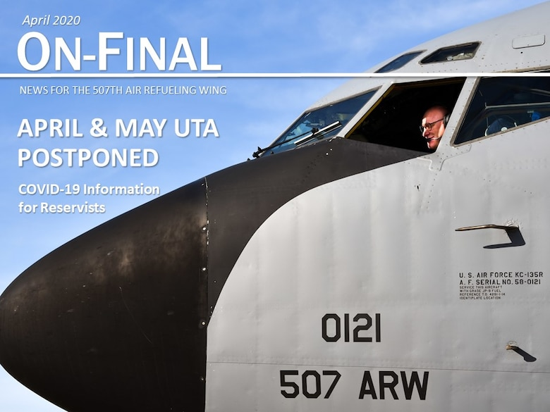 Col Miles Heaslip, 507th Air Refueling Wing commander, performs pre-flight checks on a KC-135R Stratotanker before a sortie March 26, 2020, at Tinker Air Force Base, Oklahoma. (U.S. Air Force photo by Senior Airman Mary Begy)