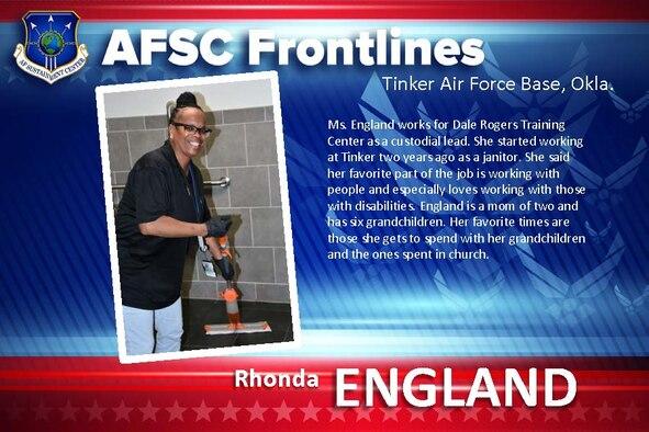 AFSC Spotlight: Meet Rhonda England