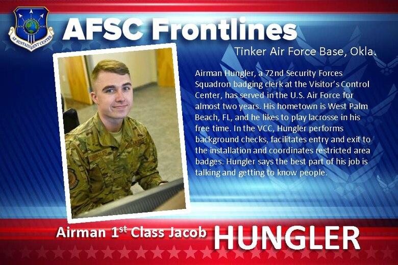AFSC Spotlight: Airman 1st Class Jacob Hungler,
