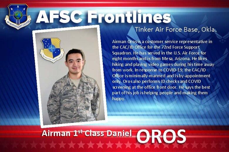 AFSC Spotlight: Airman 1st Class Daniel Oros
