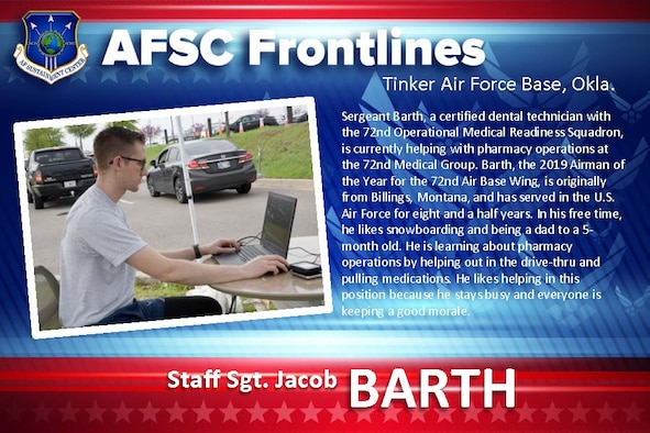 AFSC Spotlight: Staff Sgt. Jacob Barth