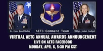 graphic showing AETC command and command chief