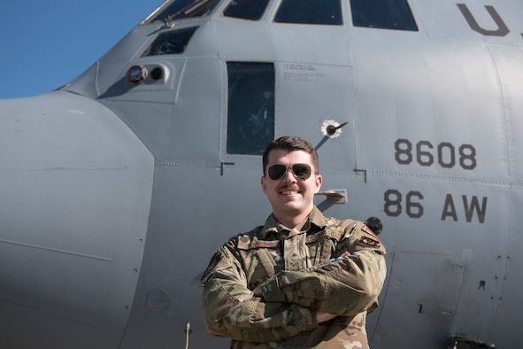 U.S. Air Force Senior Airman Kyle Hodge, 86th Aircraft Maintenance Squadron flying crew chief, wipes down hydraulic switches with a disinfectant solution on a C-130J Super Hercules aircraft, Ramstein Air Base, Germany, April 1, 2020. As concern over the coronavirus disease 2019 continued to emerge, the 86th AMXS implemented thorough disinfection procedures to ensure a minimum risk of exposure to the virus. (U.S. Air Force photo by Senior Airman Kristof J. Rixmann)