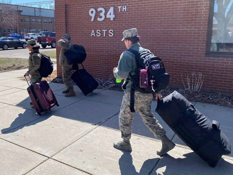 On 4 April, at approximately 2:00PM CST, the 934th Airlift Wing was tasked to deploy some of our #ReserveCitizenAirmen to aid in combating COVID-19. With less than a 24-hour notice, the Global Vikings responded and deployed across the home front.