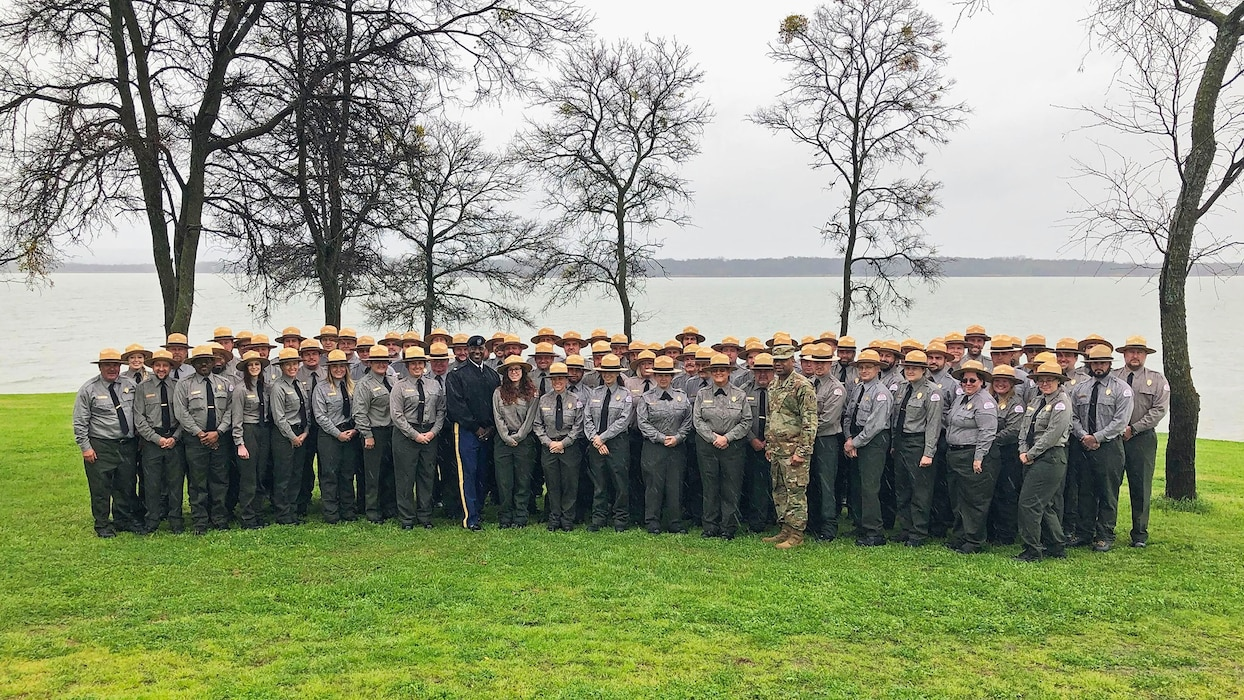 Park Ranger group photo at Joe Pool Lake