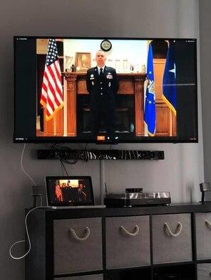 Photo of Brig. Gen. Murphy's virtual promotion.