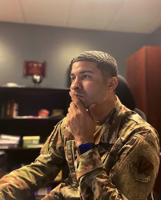 U.S. Air Force Staff Sgt. Justin Waters, 325th Fighter Wing equal opportunity noncommissioned officer in charge, poses for a photo April 6, 2020, at Tyndall Air Force Base, Florida. Waters
