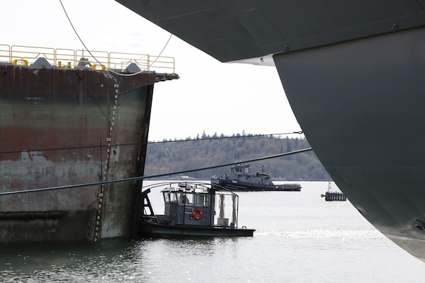 USS Carl Vinson (CVN 70) departed Dry Dock 6 April 6, 2020, after spending 14 months undergoing a Docking Planned Incremental Availability period at Puget Sound Naval Shipyard & Intermediate Maintenance Facility.