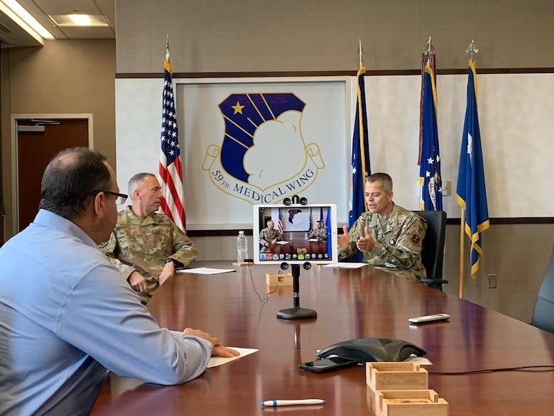 AFIMSC commander hosts virtual town hall