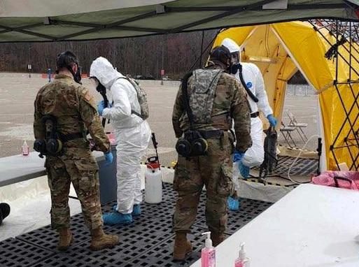 3rd CBRN Task Force completes COVID-19 test site mission