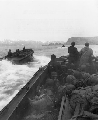 On May 11, 1943, American troops invaded Japanese-occupied Attu Island, now part of Alaska. Fearing a Russian invasion, the FBI and OSI went on to train island residents. (Associated Press photo)