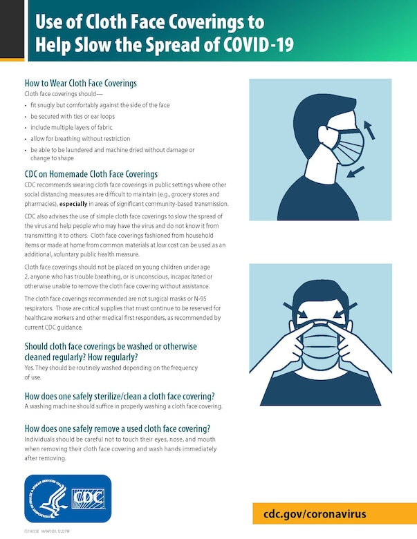 Update: HARB guidance on the use of cloth face coverings ...