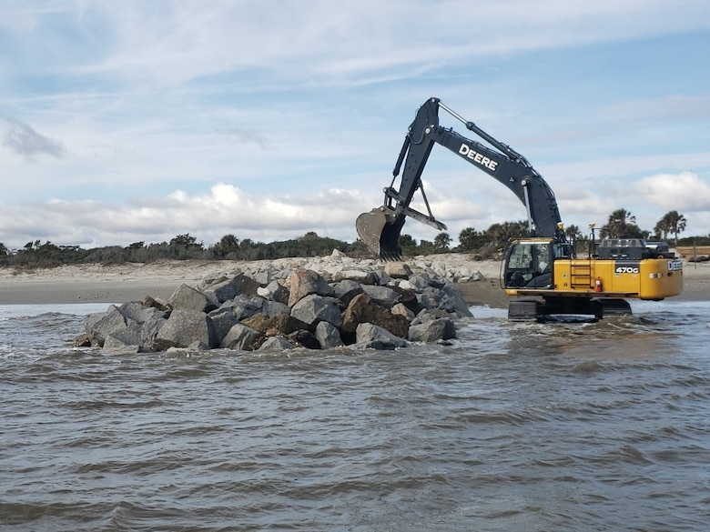 Repairing the South Jetty