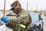 Per Army guidance, soldiers are authorized to wear the neck gaiter and other cloth items, such as bandanas and scarves, as face coverings. Soldiers should not, however, fashion face coverings from Army combat uniforms or other materials that have been chemically treated. Personal protective equipment, such as N95 respirators or surgical masks, must be reserved for use in medical settings.