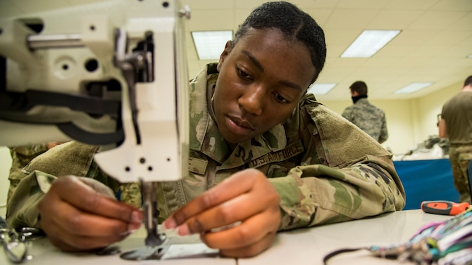 Sheppard Airmen make cloth face covers to combat COVID-19