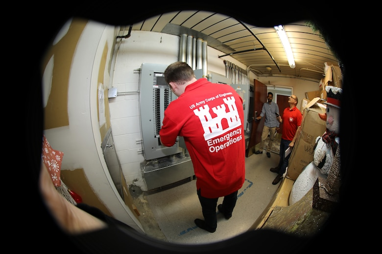 A team for the U.S. Army Corps of Engineers Norfolk and Transatlantic Middle East Districts conduct an assessment of a facility in Northern Virginia to determine its suitability for COVID-19 response. A facility assessment does not mean that a facility will be used.