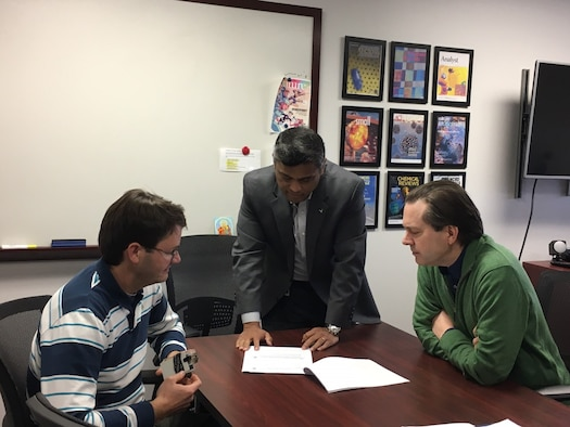 From left to right: Drs. Joe Slocik, Rajesh Naik and Patrick Dennis. (Courtesy photo)