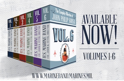 On April 6, 2020, the United States Marine Band released Volume 6 of The Complete Marches of John Philip Sousa. This multi-year recording project offers a wealth of free, in-depth educational resources including full scores, individual parts, historical notes, recordings, performance practices, and scrolling score videos. 