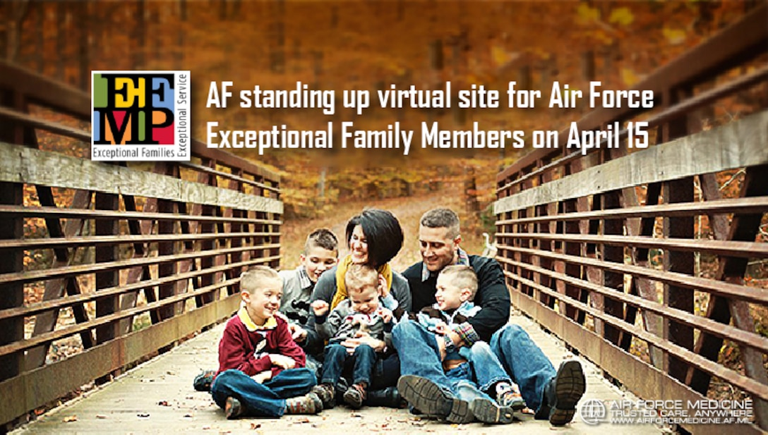 The Air Force is providing additional support to Airmen with exceptional family members during the COVID-19 pandemic. Beginning April 15, Exceptional Family Member Program families can initiate their Family Member Travel Screening package online. (U.S. Air Force graphic)