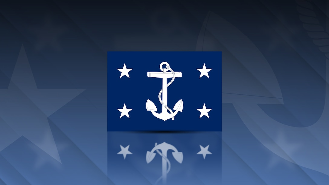A graphic in support of content about the Secretary of the Navy.