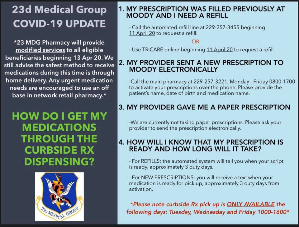 Mdg Reopens Pharmacy Amid Covid 19 Gt Moody Air Force Base