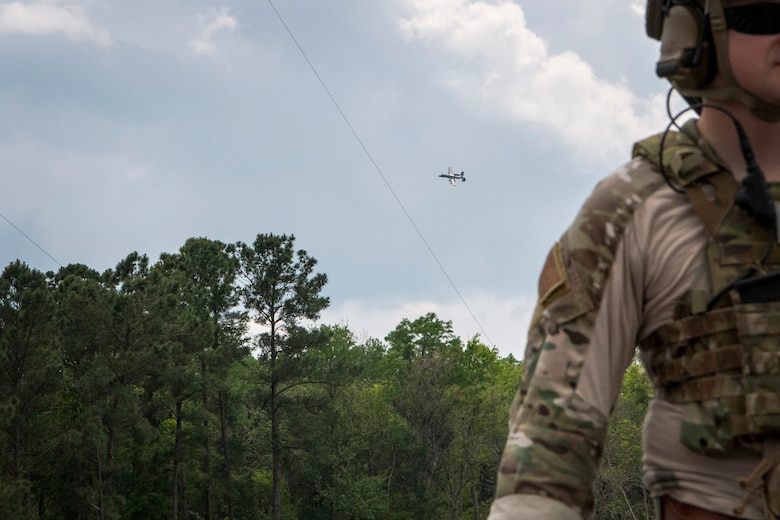 TACP officer calls in mock air strike during training