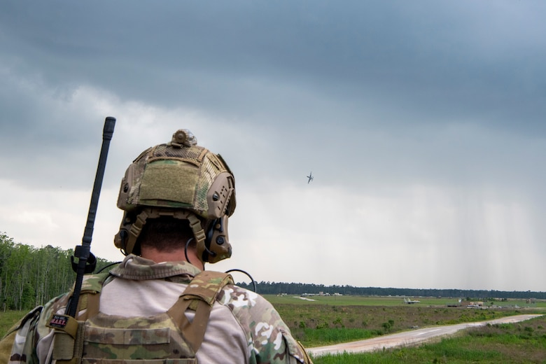 TACP officer calls in mock air strike