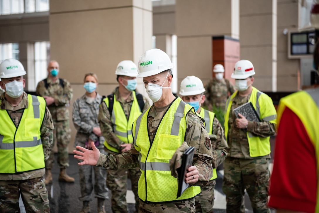 Members of the Illinois Air National Guard are activated to support COVID-19 relief efforts
